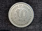 Malaya, George VI, 10 Cents 1950, VF, WB7875